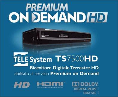 Telesystem ts7500hd la scheda tecnica del decoder premium for Premium on demand