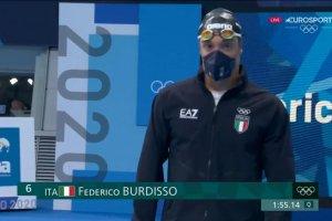 Video Olimpiadi Tokyo 2020 Discovery+ |  Nuoto 200 farfalla, Federico Burdisso ARGENTO