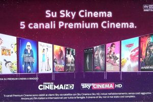 Sky Cinema, dal 27 Aprile arrivano i 5 canali Mediaset Premium Cinema
