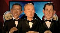 ''Gli Sgommati'', ecco in anteprima i nuovi pupazzi di Obama, Putin e Sarkozy