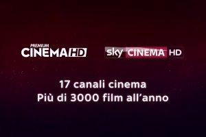 3000 film ogni anno su Sky con Premium Cinema e Sky Cinema