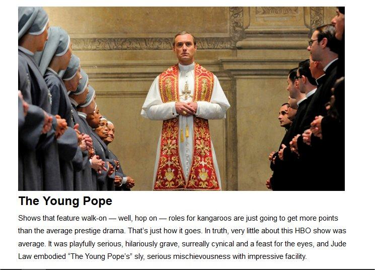 The Young Pope (Sky), per Variety tra le migliori 20 serie tv del 2017