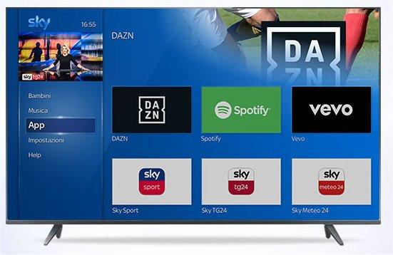 DAZN |  Spotify e il controllo vocale arrivano sui decoder Sky Q Platinum e Black