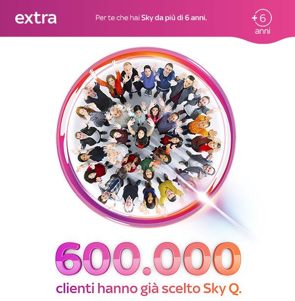 Oltre 600mila clienti hanno scelto Sky Q, tanti vantaggi con «Un pensiero per te»