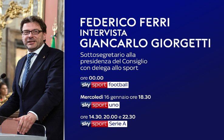 Giorgetti: «Senza le risorse Sky, la Serie A non potrebbe es