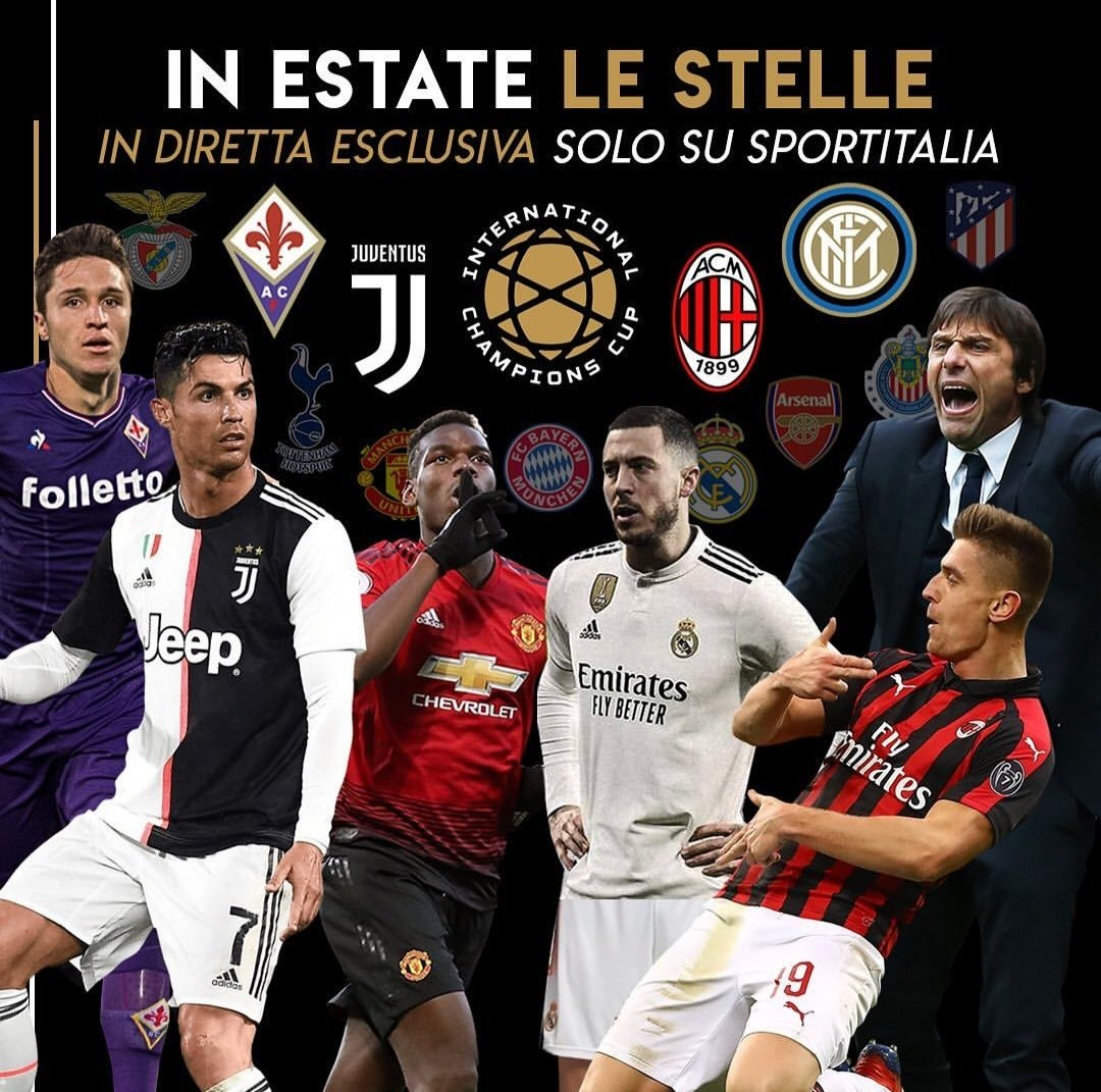International Champions Cup con Juventus, Milan, Inter e Fiorentina su Sportitalia