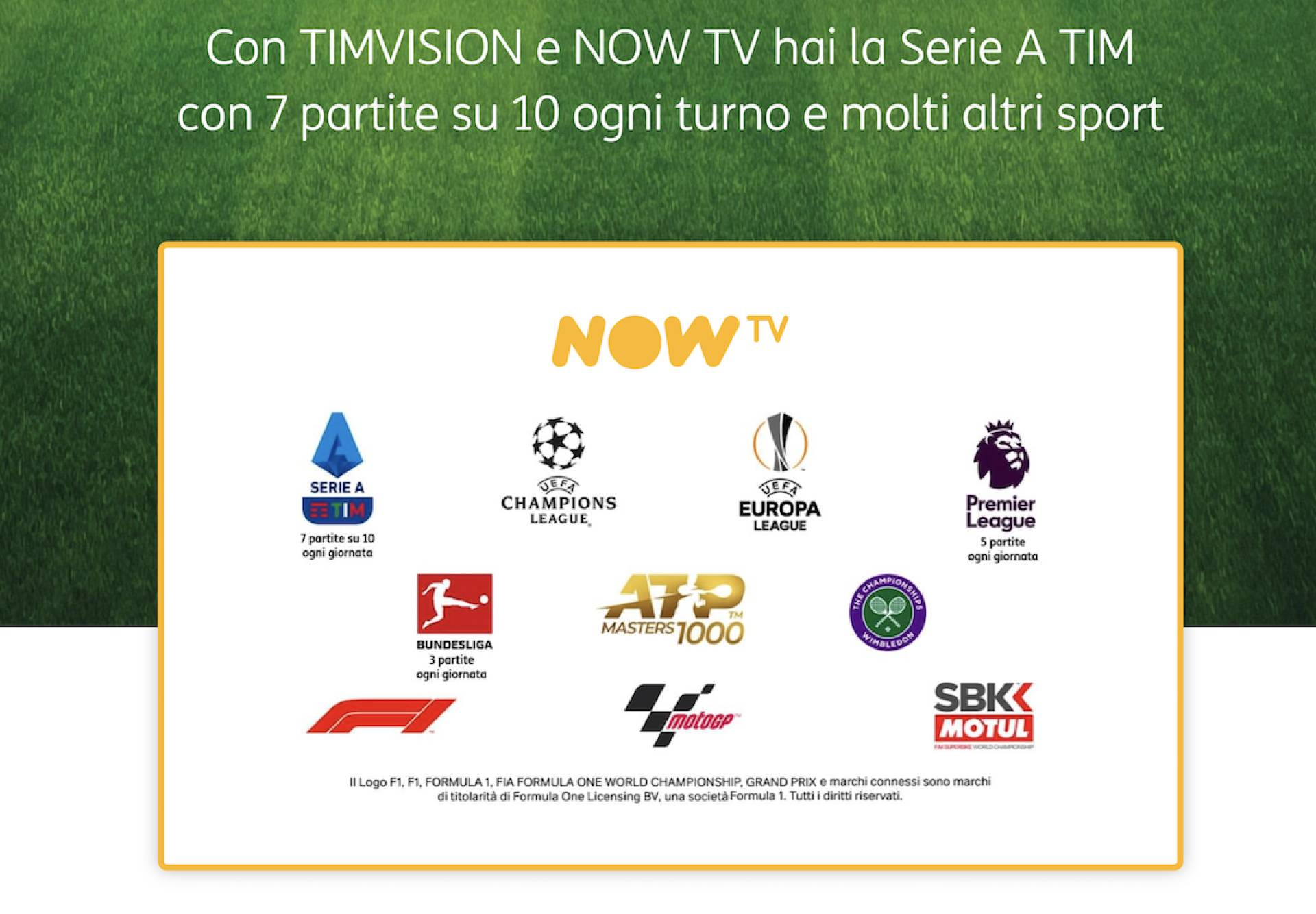 Disponibile su TIMVISION app di Sky NOW TV – Ticket Sport