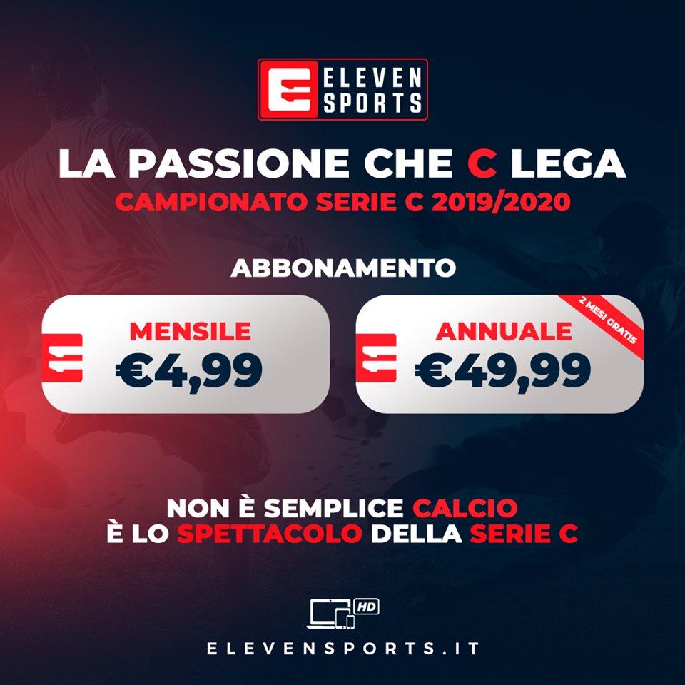 Serie C TV, 9a Giornata  - Programma e Telecronisti Eleven Sports