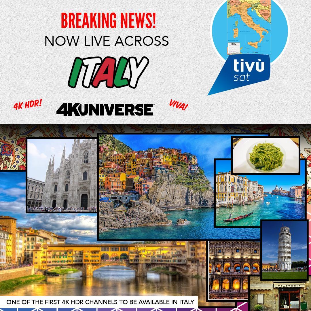 Il canale 4KUniverse arriva in Italia su tivùsat