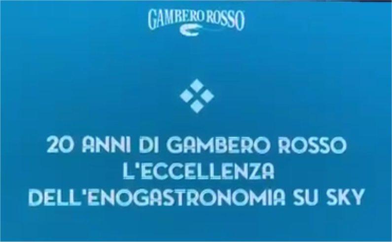 Gambero Rosso celebra 20 anni di trasmissioni televisive
