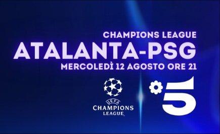 Canale 5, Champions, Diretta Atalanta   PSG, Telecronisti Sport Mediaset
