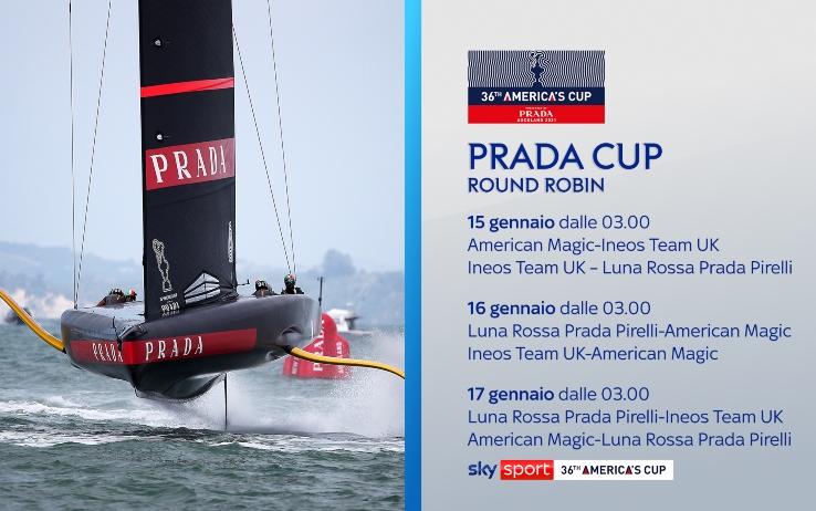 America' s Cup |  al via Prada Cup |  lo spettacolo della vela LIVE su Sky Sport