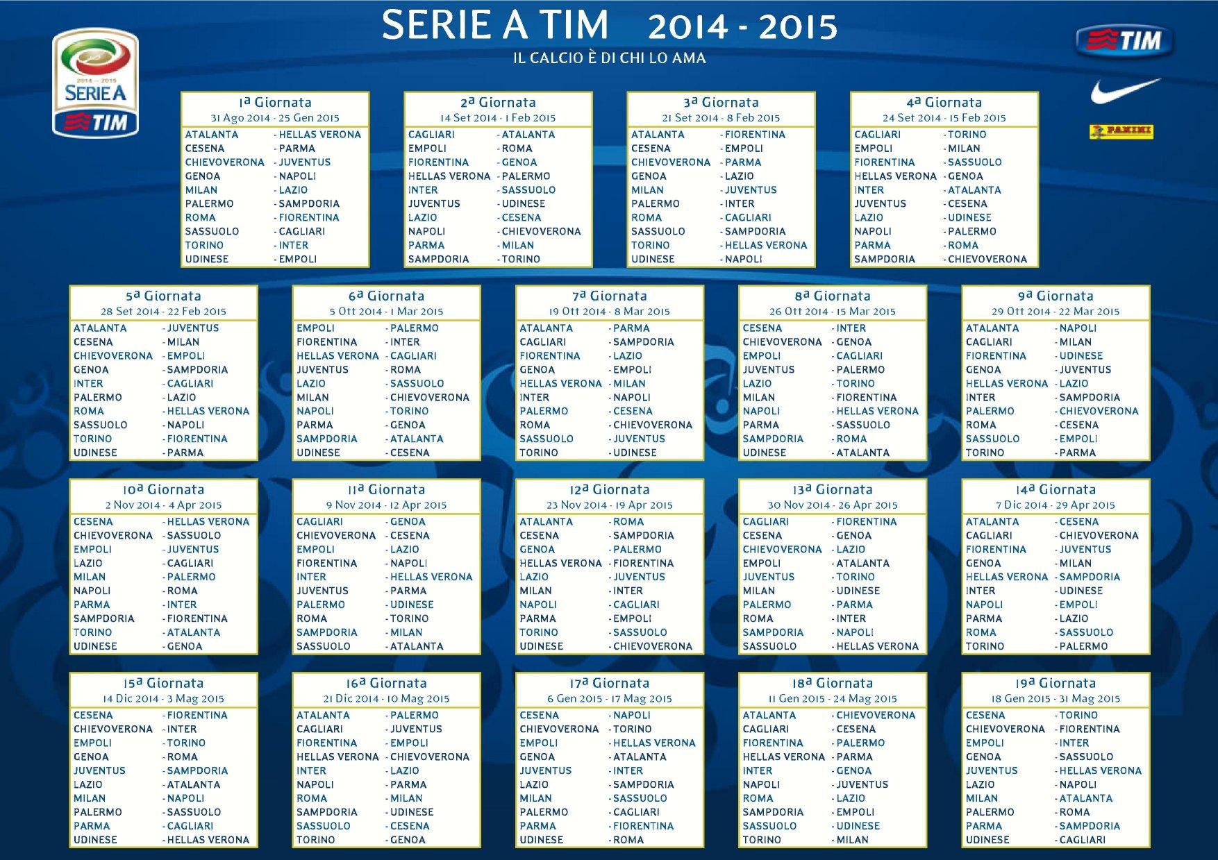 Presentazione Calendario Serie A 2014 2015 Diretta Sky Sport Hd E Sky It Skyseriea Digital News