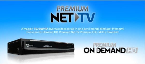 La premium net tv arriva anche sul telesystem 7500hd on demand for Premium on demand