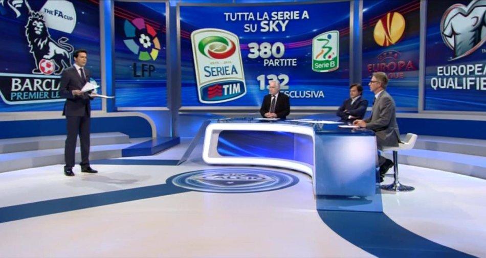Sky Sport, Serie A 1a Giornata - Programma e Telecronisti