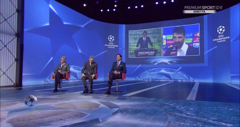 Premium Mediaset, Champions 6a giornata - Programma e Telecronisti