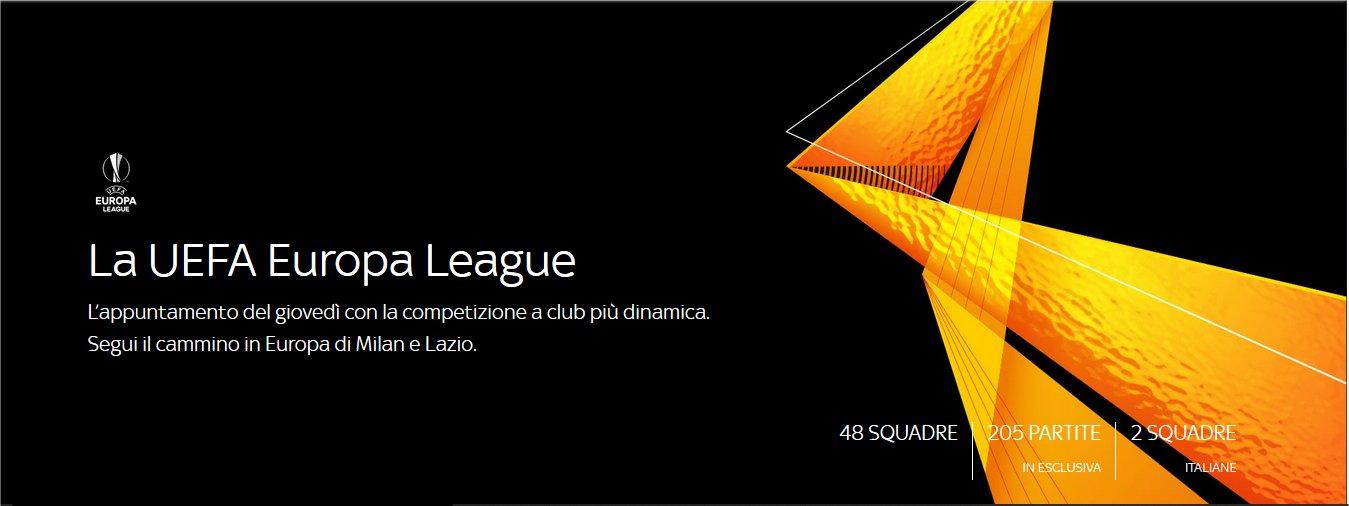 Sky Sport Europa League 1a Giornata - Diretta Esclusiva   Palinsesto e Telecronisti