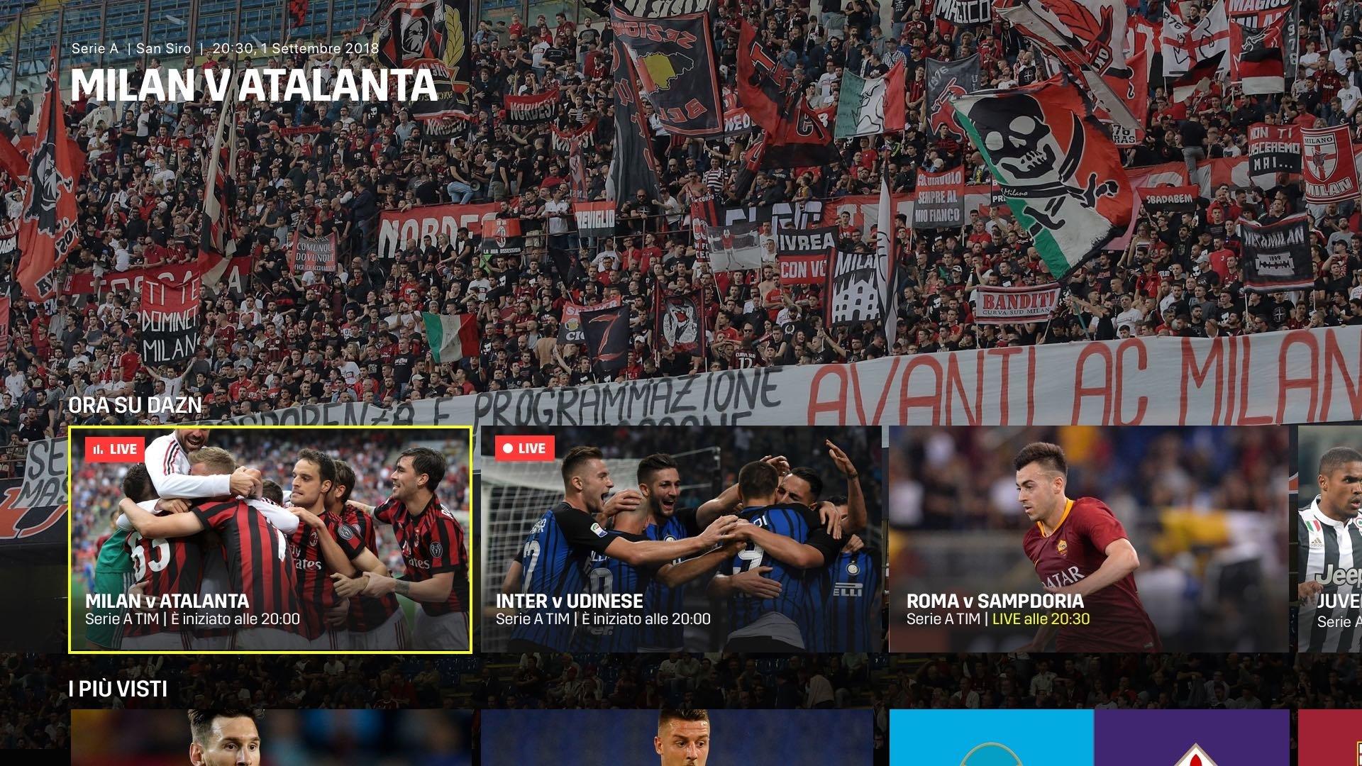 DAZN Serie A 14a Giornata - Diretta Esclusiva - Palinsesto e Telecronisti