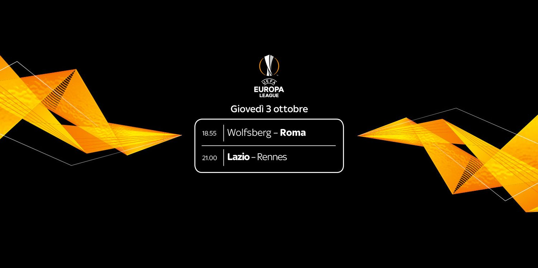 Sky Sport Diretta Europa League #2, Palinsesto Telecronisti Lazio e Roma