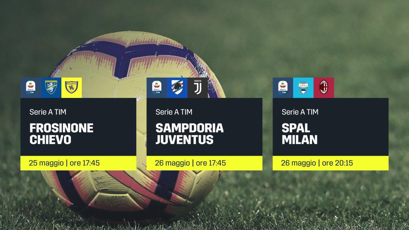 DAZN, Serie A 38a Giornata, Diretta Esclusiva, Palinsesto e Telecronisti