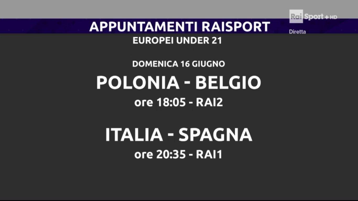 Domenica sui canali Rai Sport - Palinsesto 16 Giugno 2019