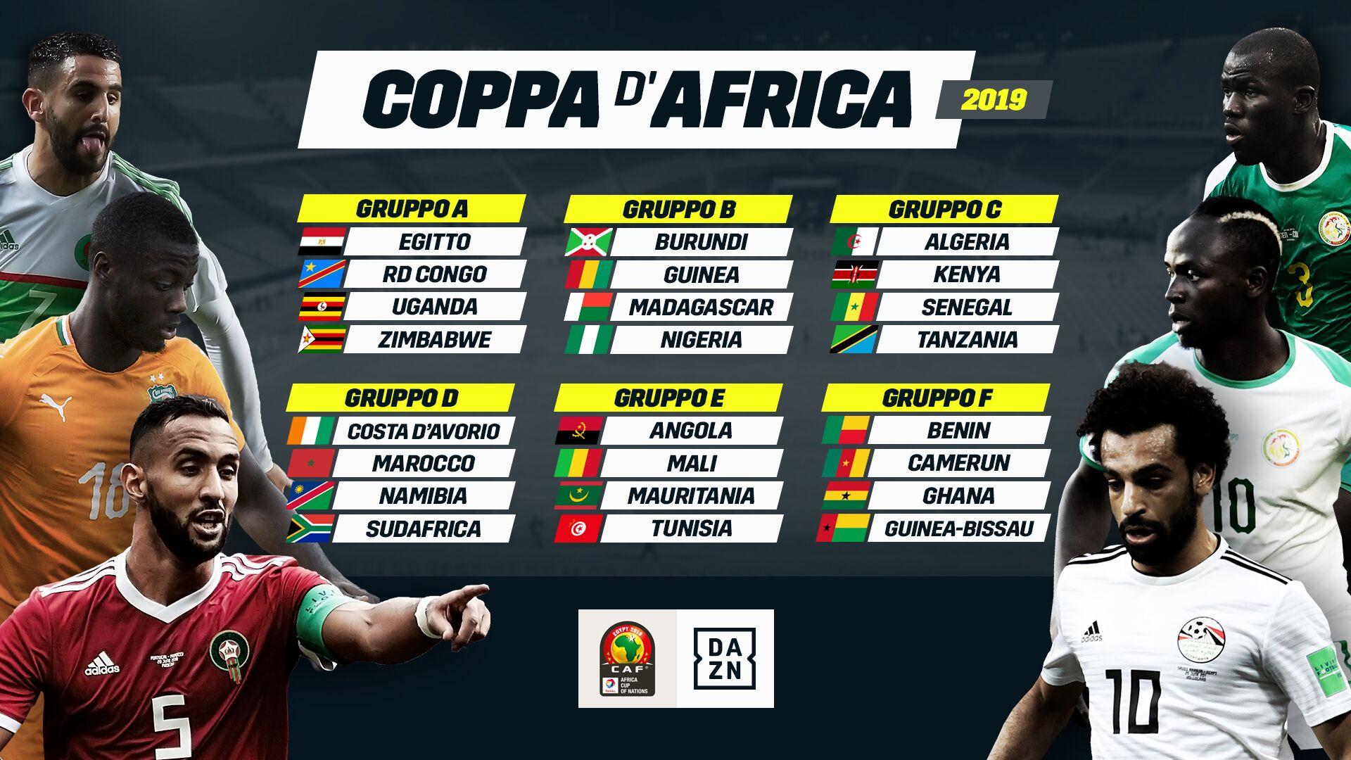 DAZN, Coppa Africa 2a Giornata, Diretta Esclusiva, Palinsesto e Telecronisti
