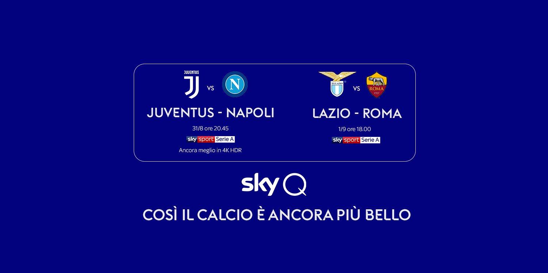 Sky Sport Serie A 2a Giornata, Diretta Esclusiva | Palinsesto e Telecronisti (Juventus-Napoli in 4K)