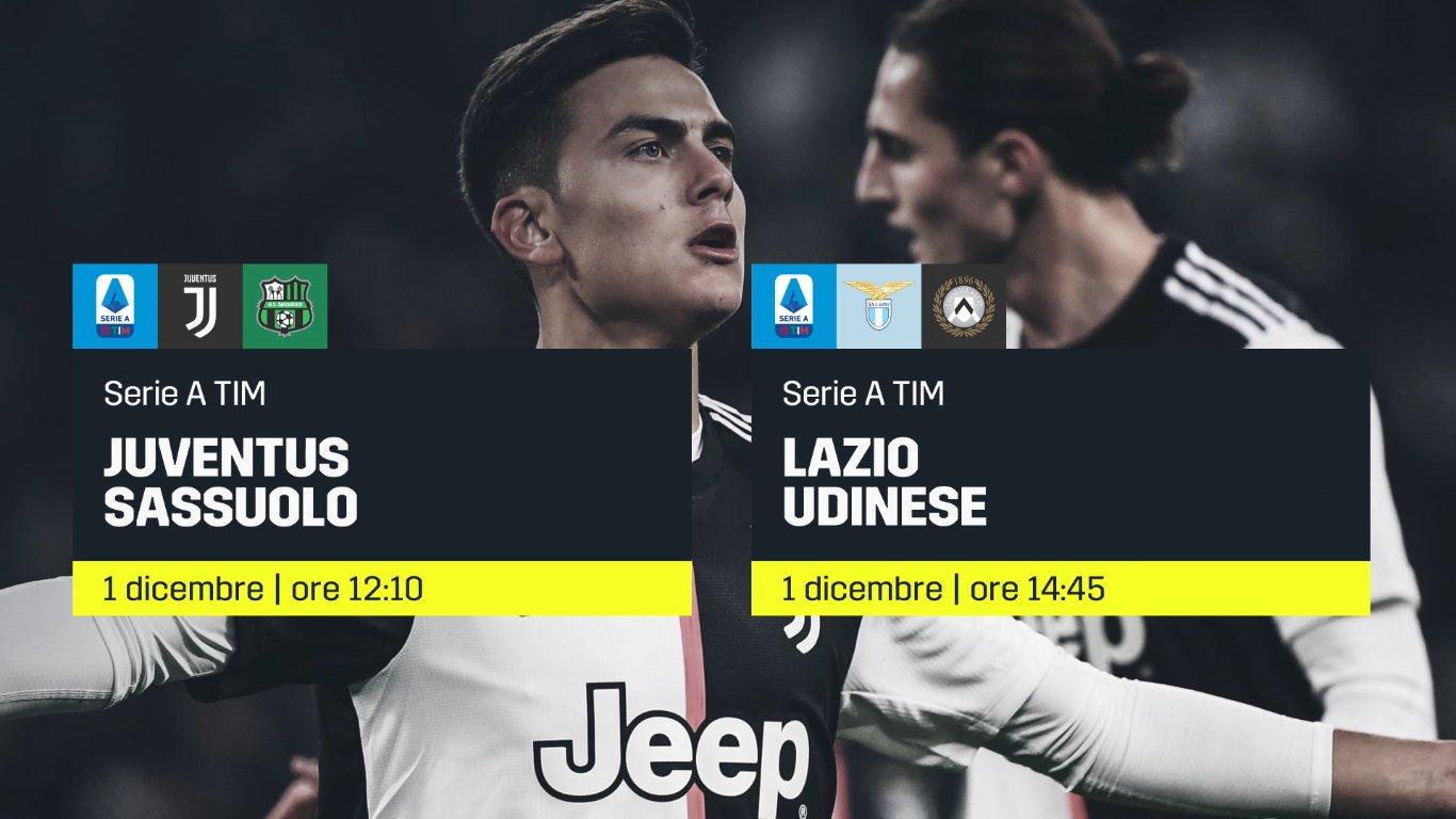 DAZN Serie A 14a Giornata, Diretta Esclusiva - Palinsesto e Telecronisti (anche Sky 209)