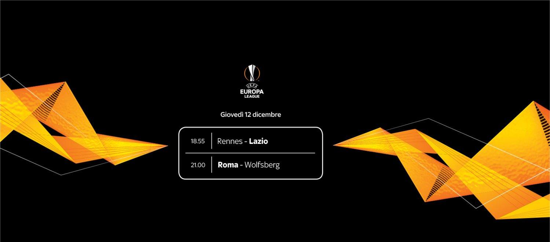 Sky Sport Diretta Europa League #6, Palinsesto Telecronisti Lazio e Roma