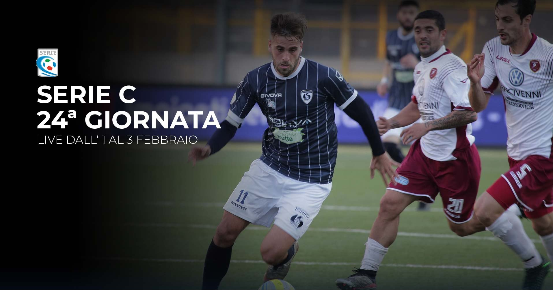 Serie C TV, 24a Giornata - Programma e Telecronisti Eleven Sports