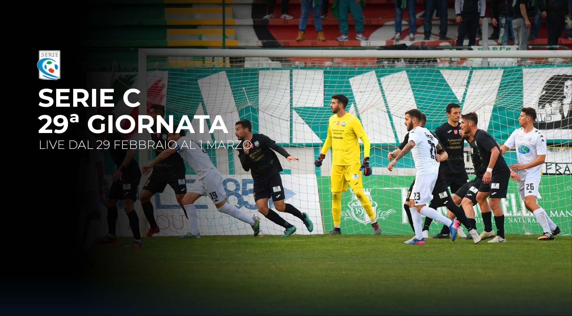 Serie C TV, 29a Giornata  - Programma e Telecronisti Eleven Sports