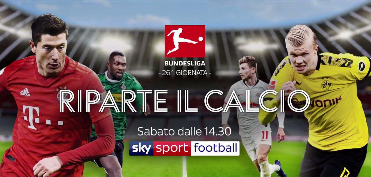 Calcio Estero Sky Sport, torna la Bundesliga! Palinsesto e Telecronisti (16 - 18 Maggio)