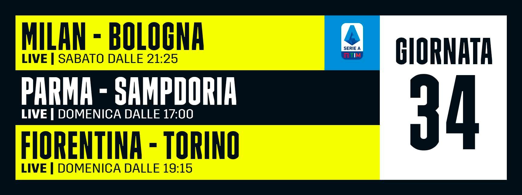 DAZN Serie A 34 Giornata, Diretta Esclusiva | Palinsesto e Telecronisti (Sky 209)