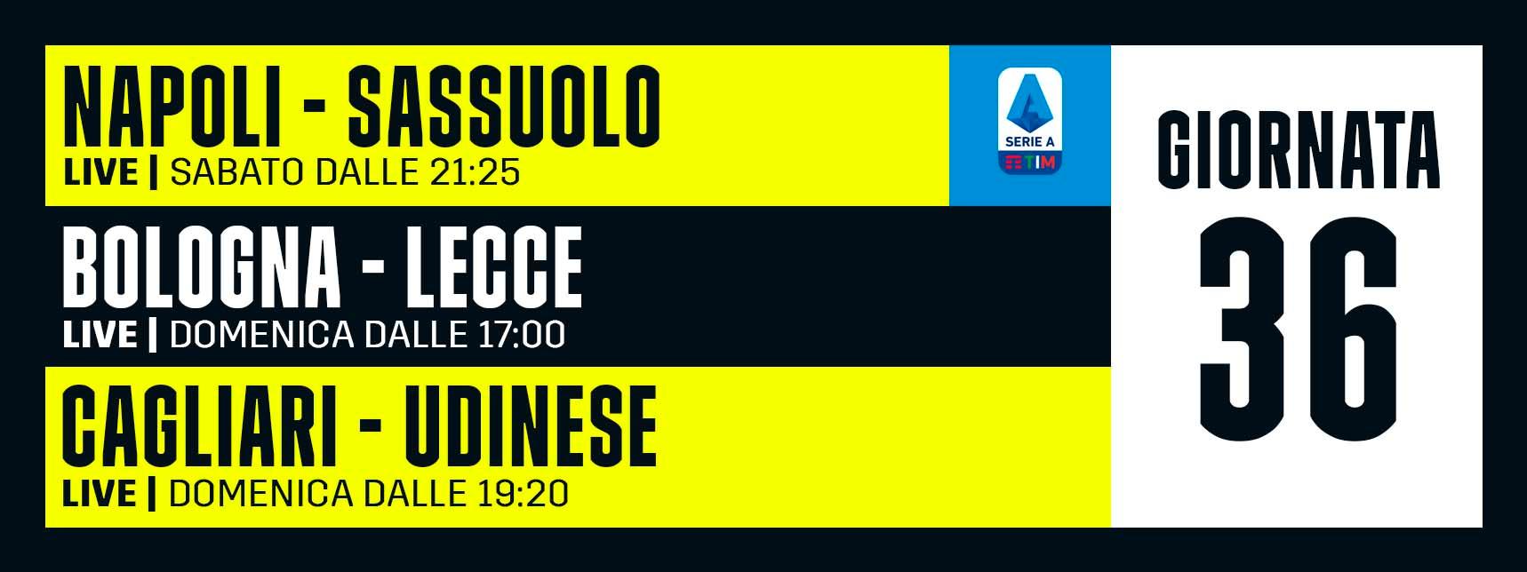 DAZN Serie A 36 Giornata, Diretta Esclusiva   Palinsesto e Telecronisti (Sky 209)