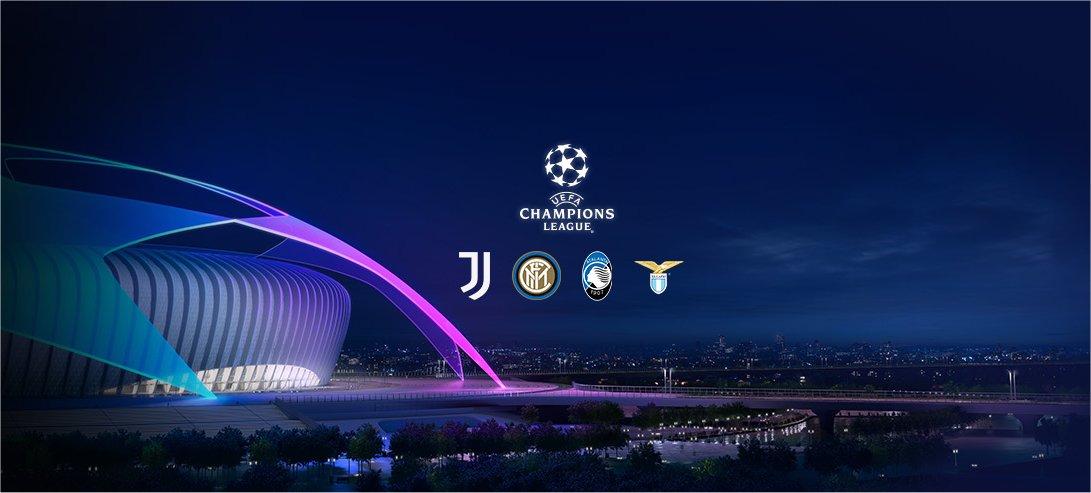 Sky Sport, Diretta Champions #1, Palinsesto Telecronisti Juventus, Inter, Atalanta, Lazio