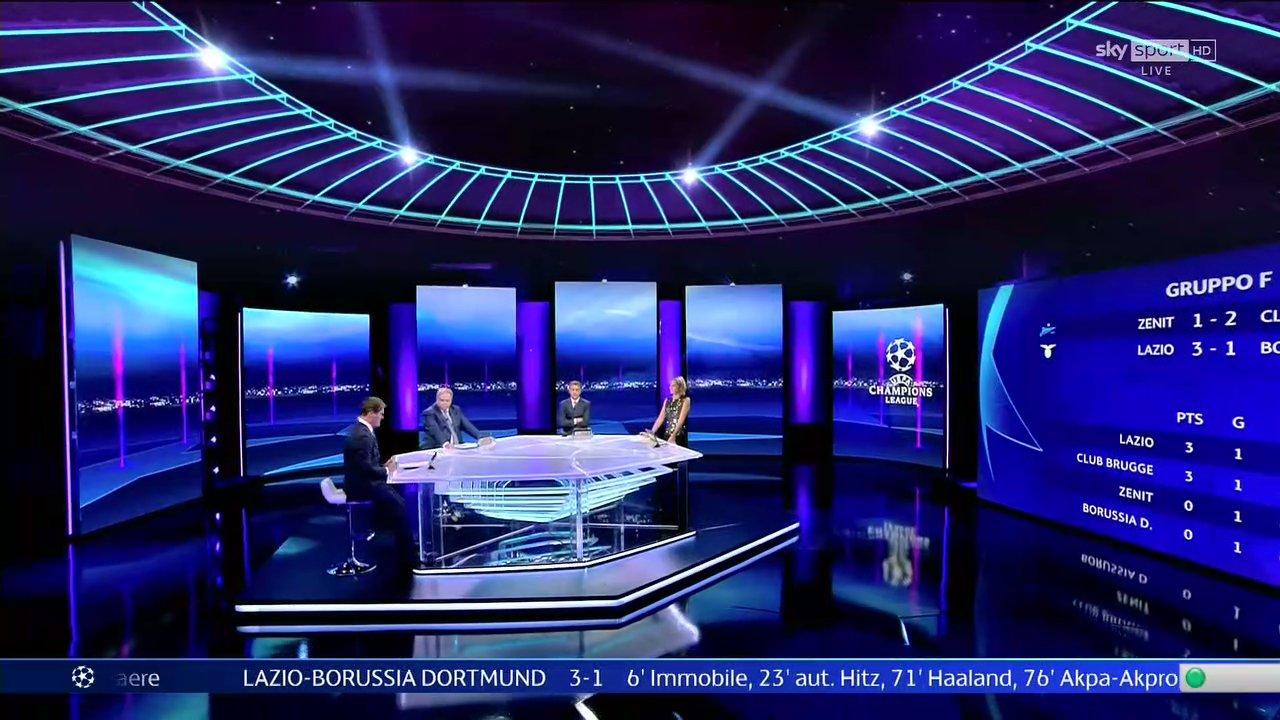 Sky Sport Diretta Champions #2, Palinsesto Telecronisti Juventus, Inter, Atalanta, Lazio