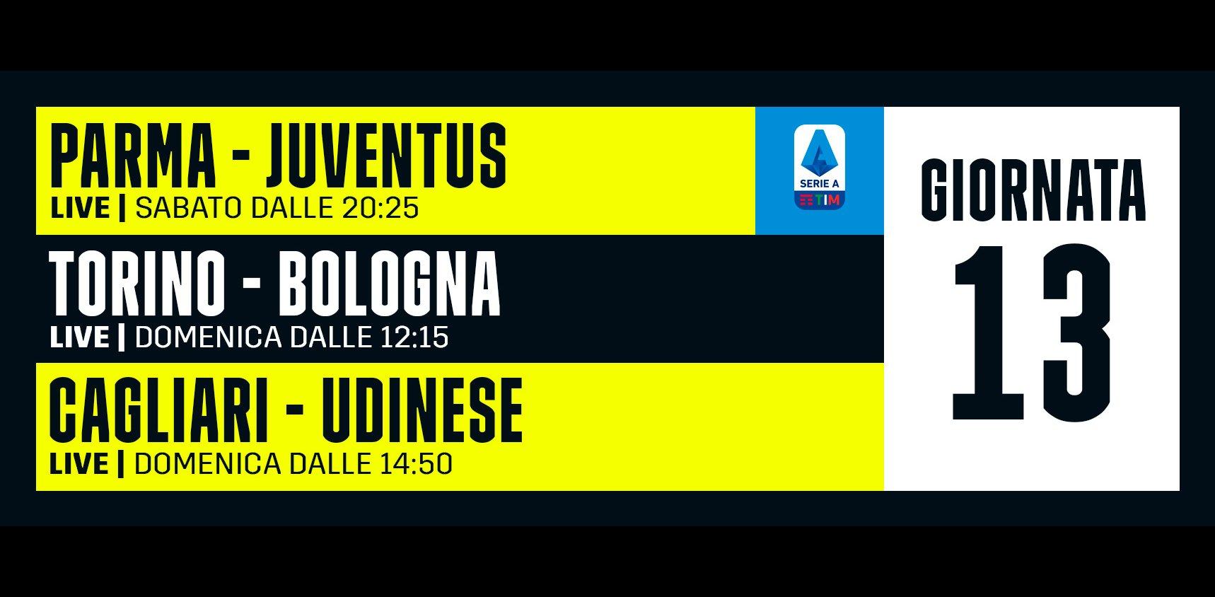 DAZN Serie A 13a Giornata, Diretta Esclusiva | Palinsesto Telecronisti (Sky 209)