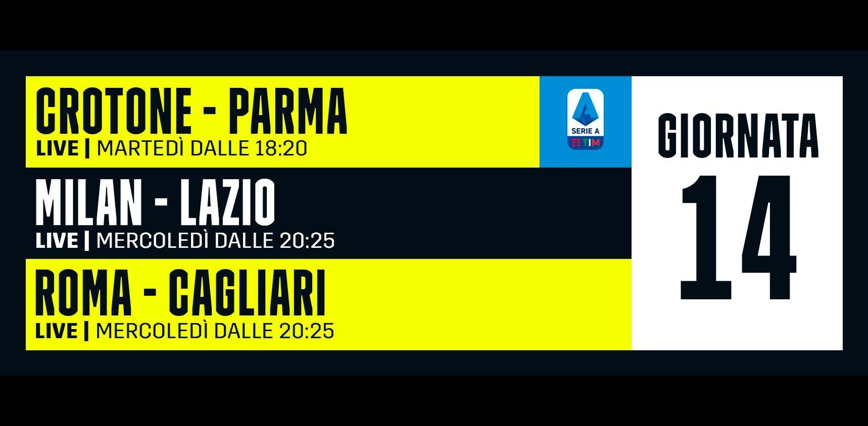 DAZN Serie A 14a Giornata, Diretta Esclusiva | Palinsesto Telecronisti (Sky 209)