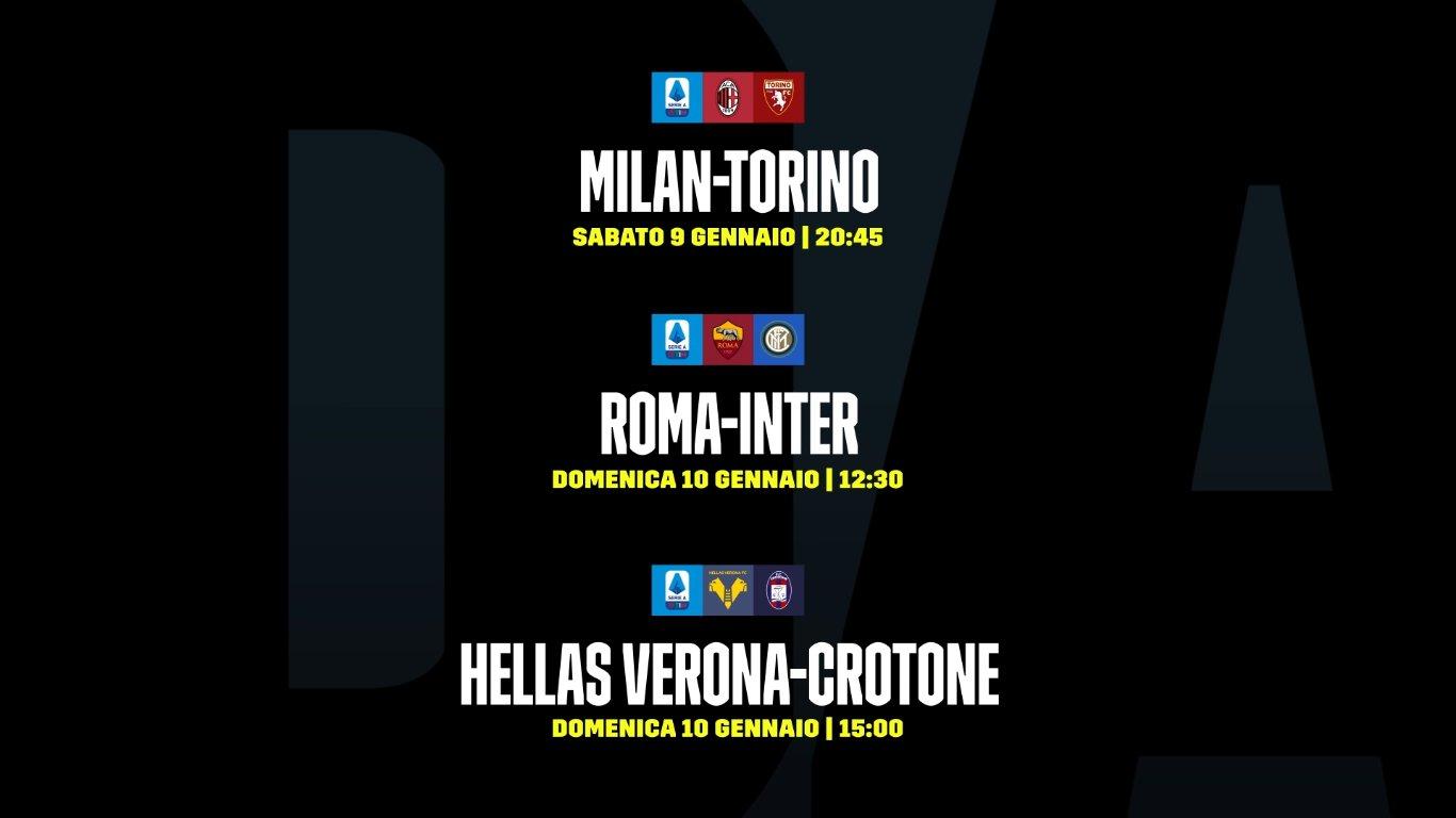 DAZN Serie A 17a Giornata, Diretta Esclusiva | Palinsesto ...