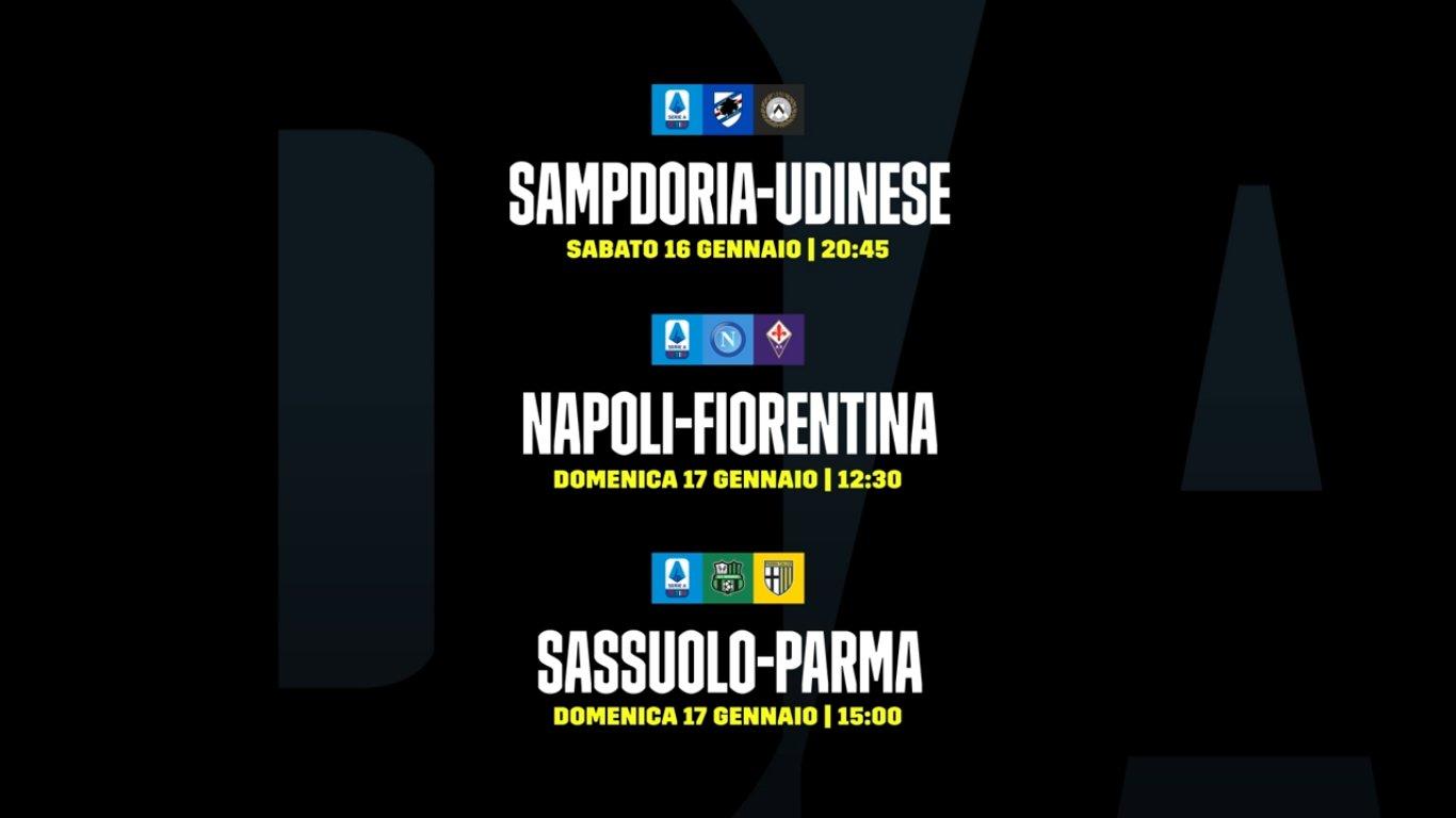 DAZN Serie A 18a Giornata, Diretta Esclusiva | Palinsesto Telecronisti (Sky 209)