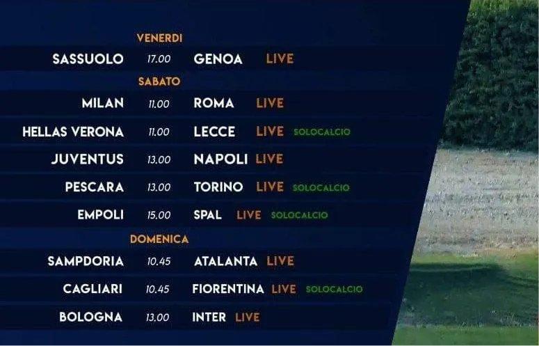 Sportitalia Campionato Primavera 1 TimVision - Programma 3a Giornata e Telecronisti