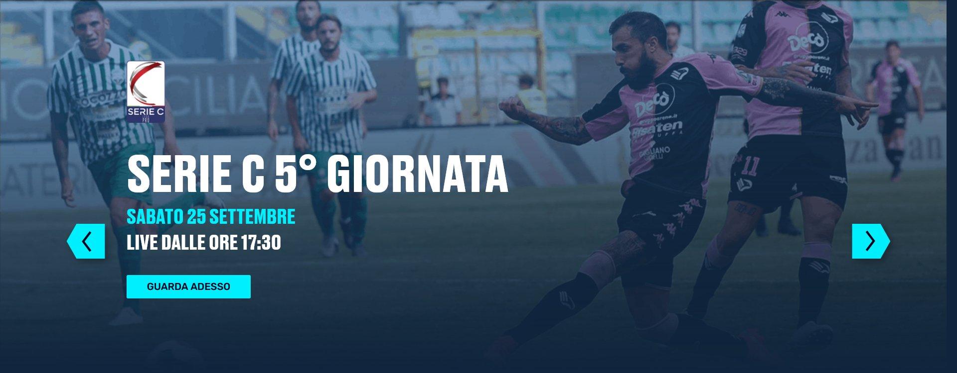 Lega Pro Eleven Sports, 5a Giornata - Programma e Telecronisti Serie C