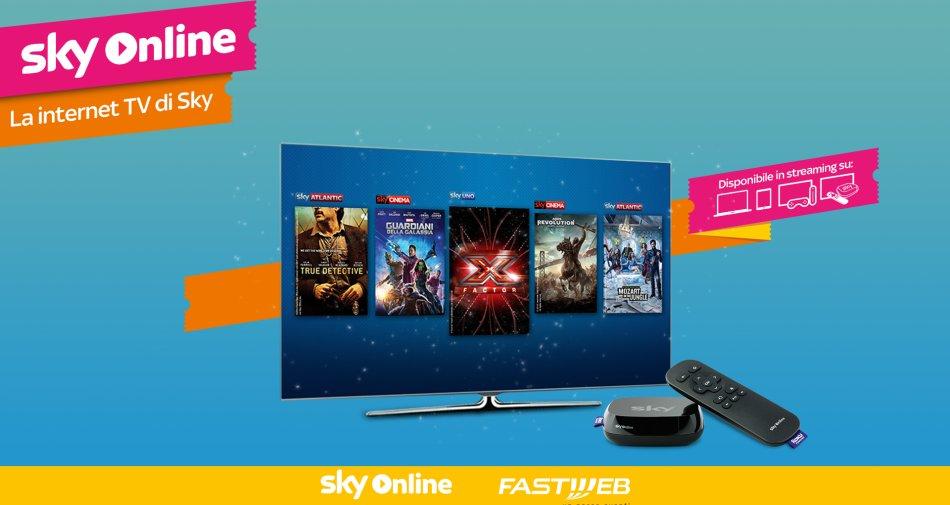 Fastweb e Sky rinnovano ed ampliano la loro partnership per banda larga e Pay Tv