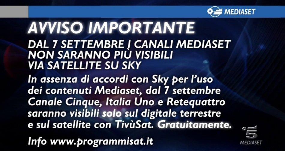 Mediaset cita Sky per danni: