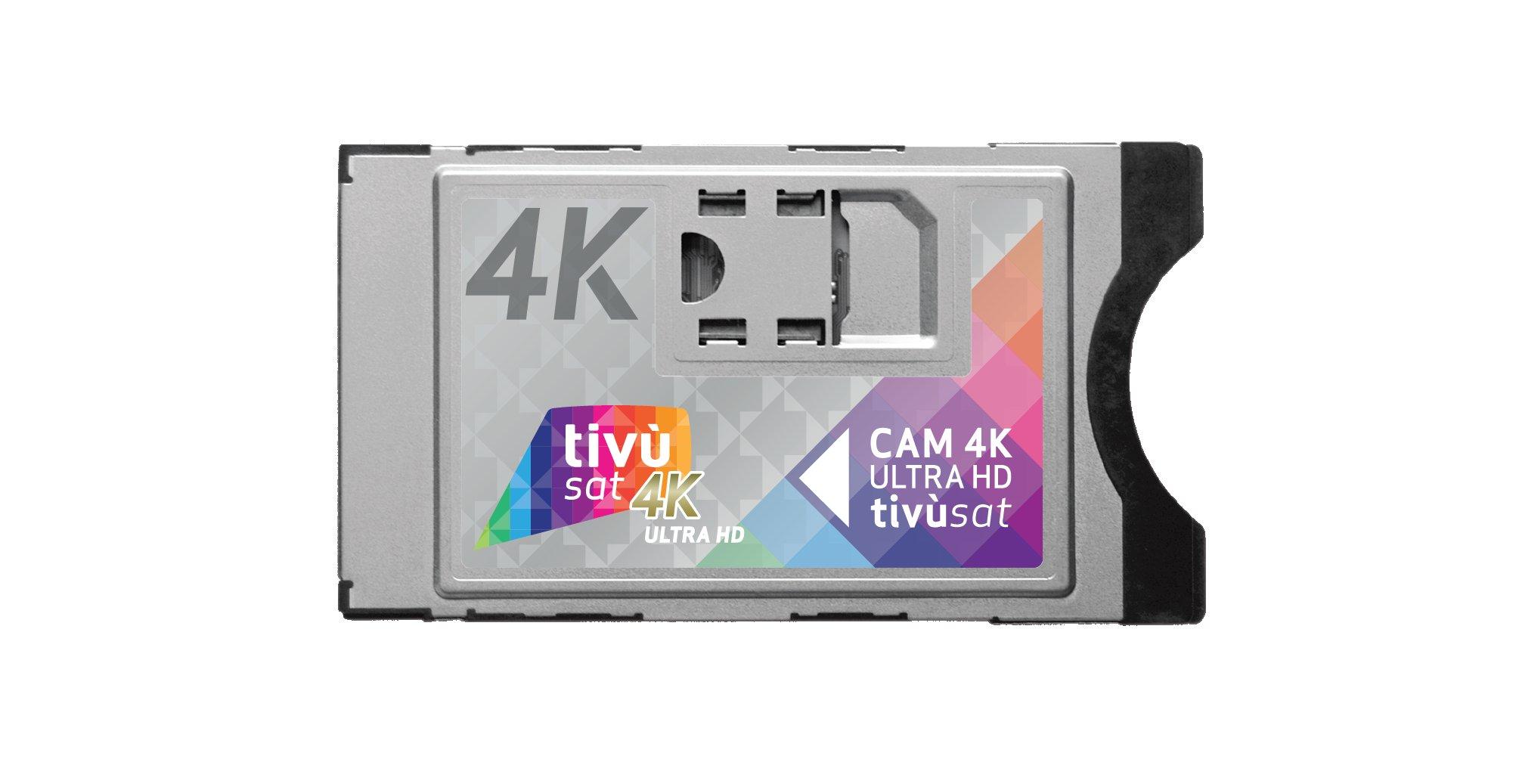 Cinque canali 4K gratuiti con la nuova CAM 4K Ultra HD Tivùsat