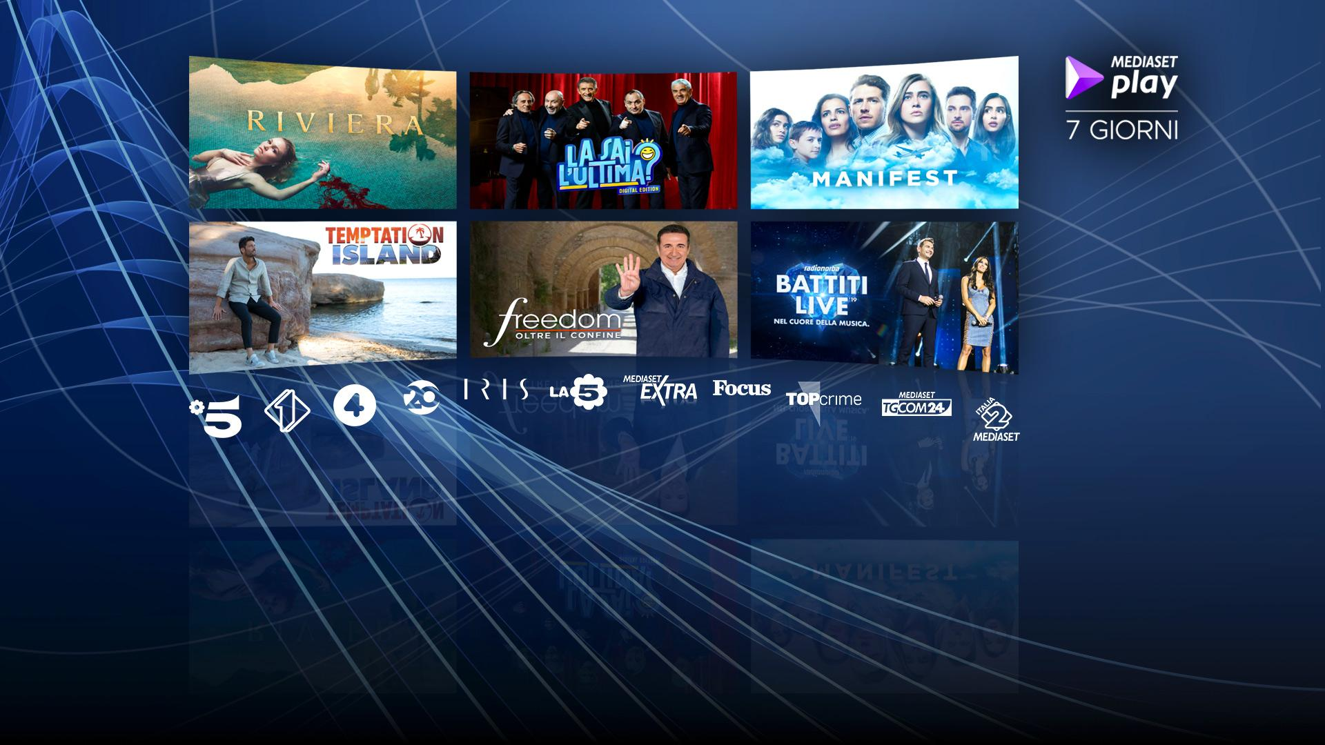 Contenuti Mediaset Play disponibili su Sky On Demand