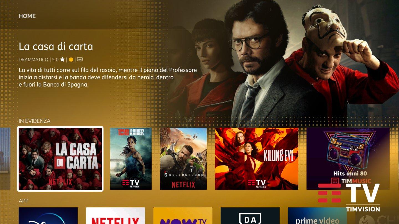 Tim incorpora Timvision, piattaforma di contenuti in streaming