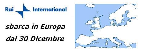 Rai International visibile in Italia a partire dal 30 Dicembre