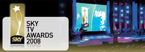 Sky Tv Awards 2008: la cerimonia di premiazione stasera alle 21 su SKY Vivo