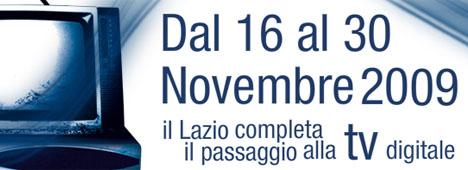 Al via lo switch-off a Roma e nel Lazio, mentre cambia la LCN in tutta Italia